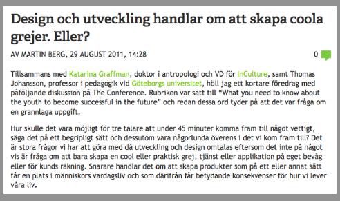 Martin Bergs blogginlägg