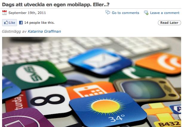 Dags att utveckla en egen mobilapp. Eller...?