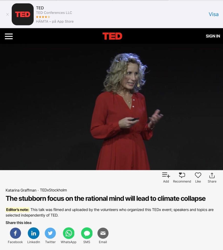 TEDxStockholm Talk