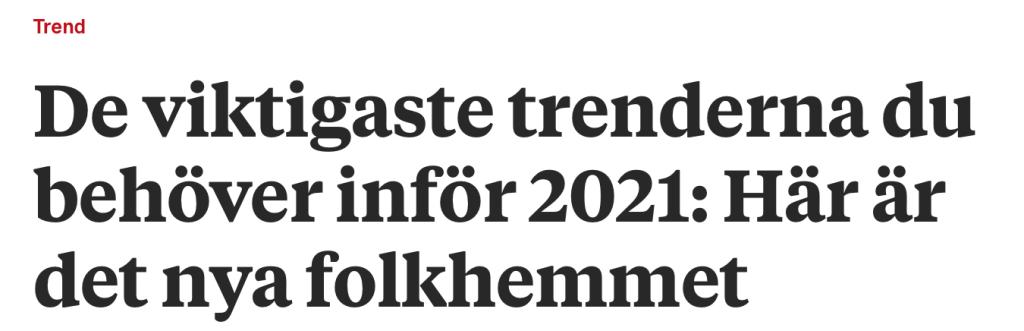 Trender 2021